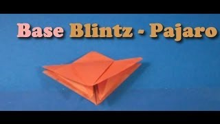 Origami - Base Blintz Pajaro