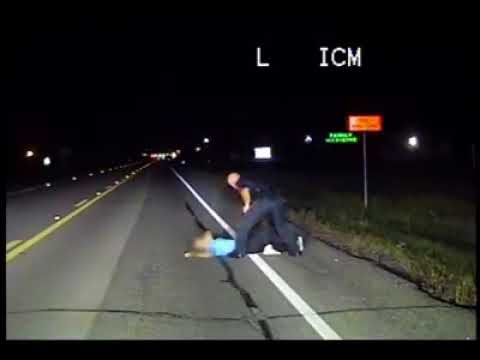 Watch car narrowly miss woman sleeping on Texas highway