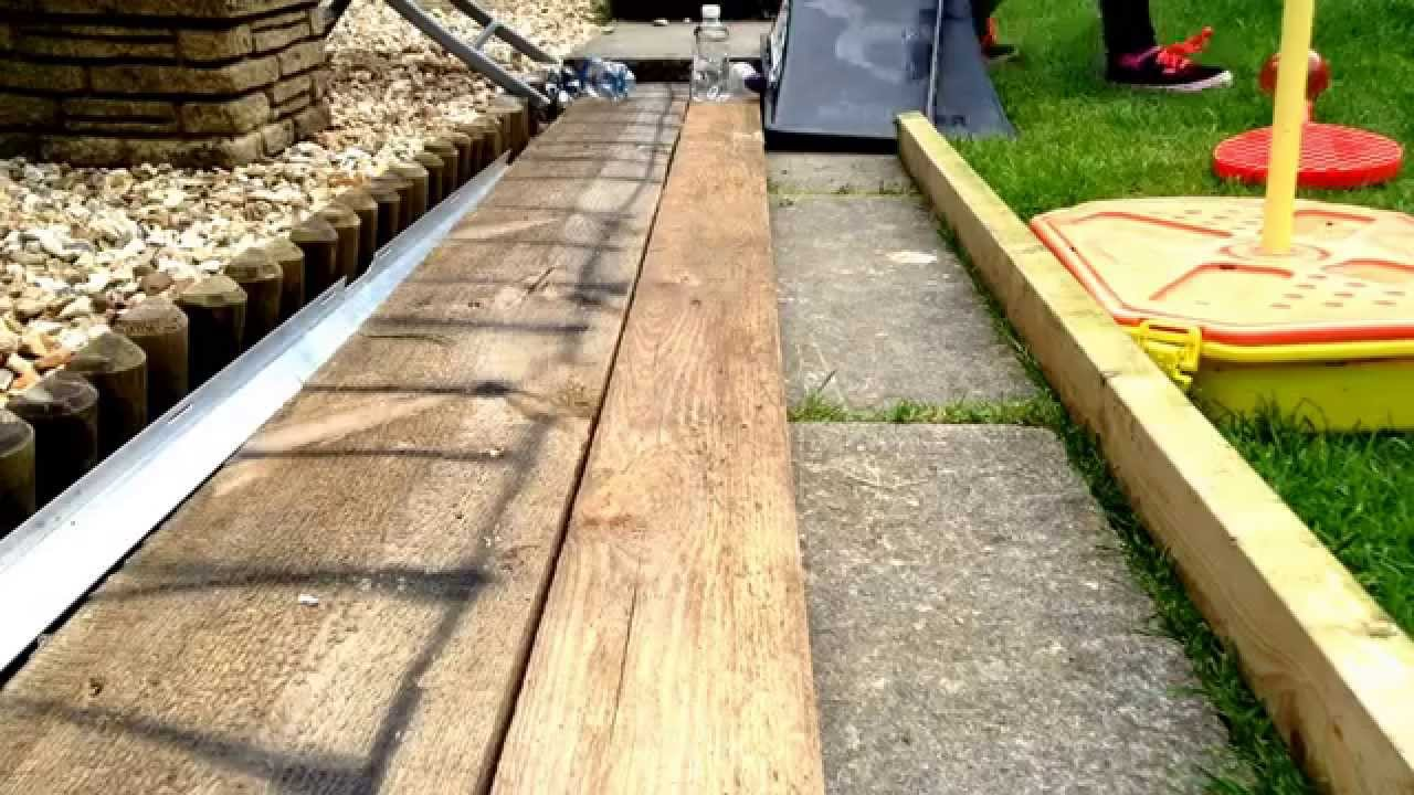homemade backyard bowling youtube