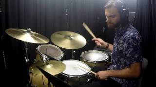 Runway Houses City Clouds Drum Cover with Transcription