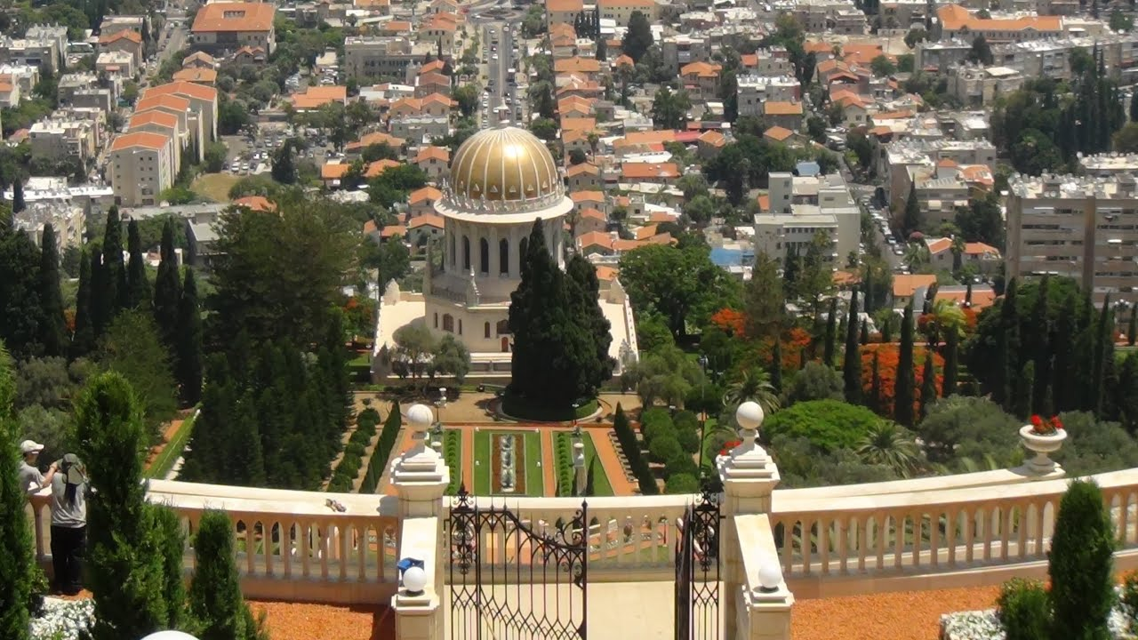 Haifa Views from Bahai Gardens, Israel - YouTube