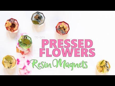 Pressed Flower Resin Magnets