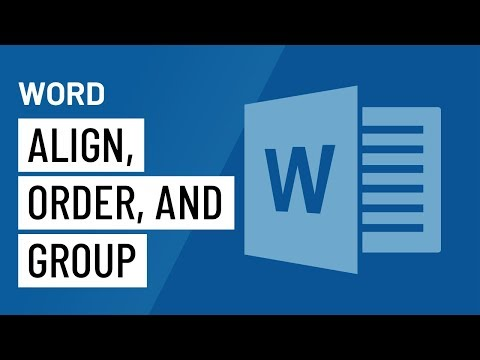 Word: Aligning, Ordering, And Grouping Objects