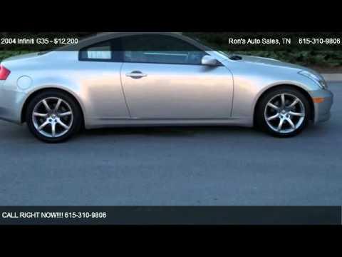 Ron'S Auto Sales >> Infiniti G35 Base Ron S Auto Sales Youtube