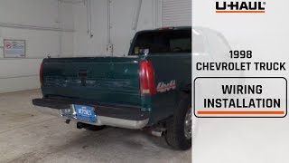1998 Chevrolet Truck Wiring Harness Installation (includes 1500, 2500, 3500  models) - YouTube | 98 Chevy Trailer Wiring Diagram |  | YouTube