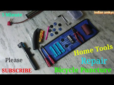 Repair Bicycle Puncture Only 5 Minutes Remove Installation Cycle Tyre Tube in [Hindi] INDIAN AMKYS