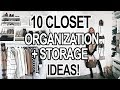 10 SMALL CLOSET ORGANIZATION + STORAGE IDEAS!