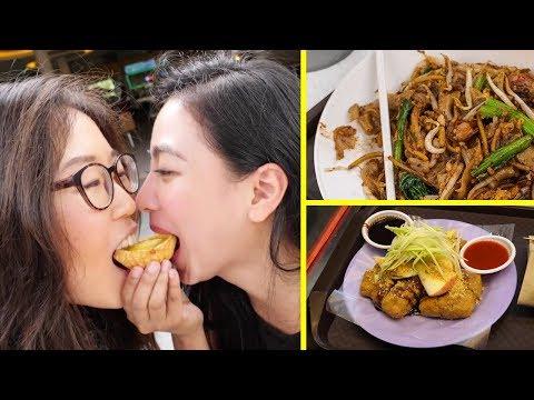 SINGAPORE STREET FOOD at Tiong Bahru Market ft. Nadia Vega