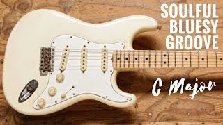 Soulful Bluesy Groove | Guitar Backing Track Jam in C