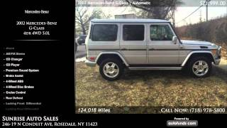 Used 2002 Mercedes-Benz G-Class | Sunrise Auto Sales, Rosedale, NY