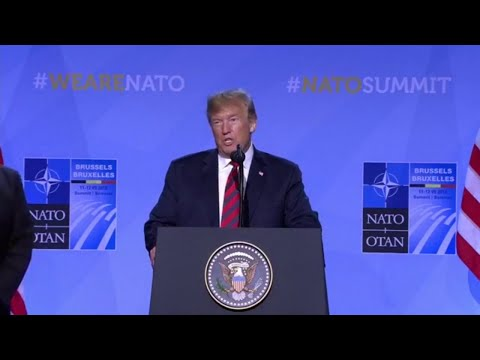 WATCH: Trump holds a post-NATO summit press conference