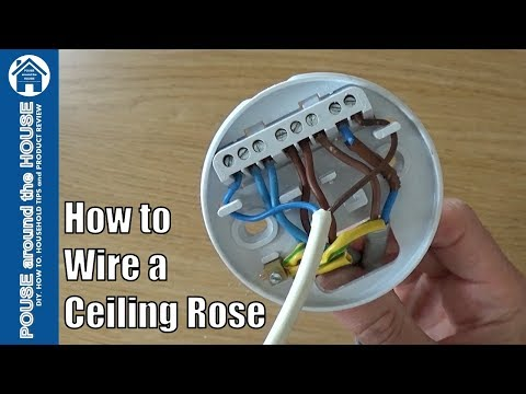 How To Wire A Ceiling Rose Lighting Circuits Explained Ceiling Rose Pendant Install Youtube