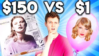 Can You Guess The REAL vs. ZERO BUDGET Taylor Swift Product!? ($150 vs $1)