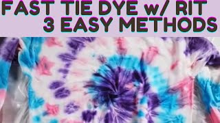 HOW TO TIE DYE FAST | A SHIRT, ROBE, PILLOWCASE IN 24 HOURS w/ RIT dye!
