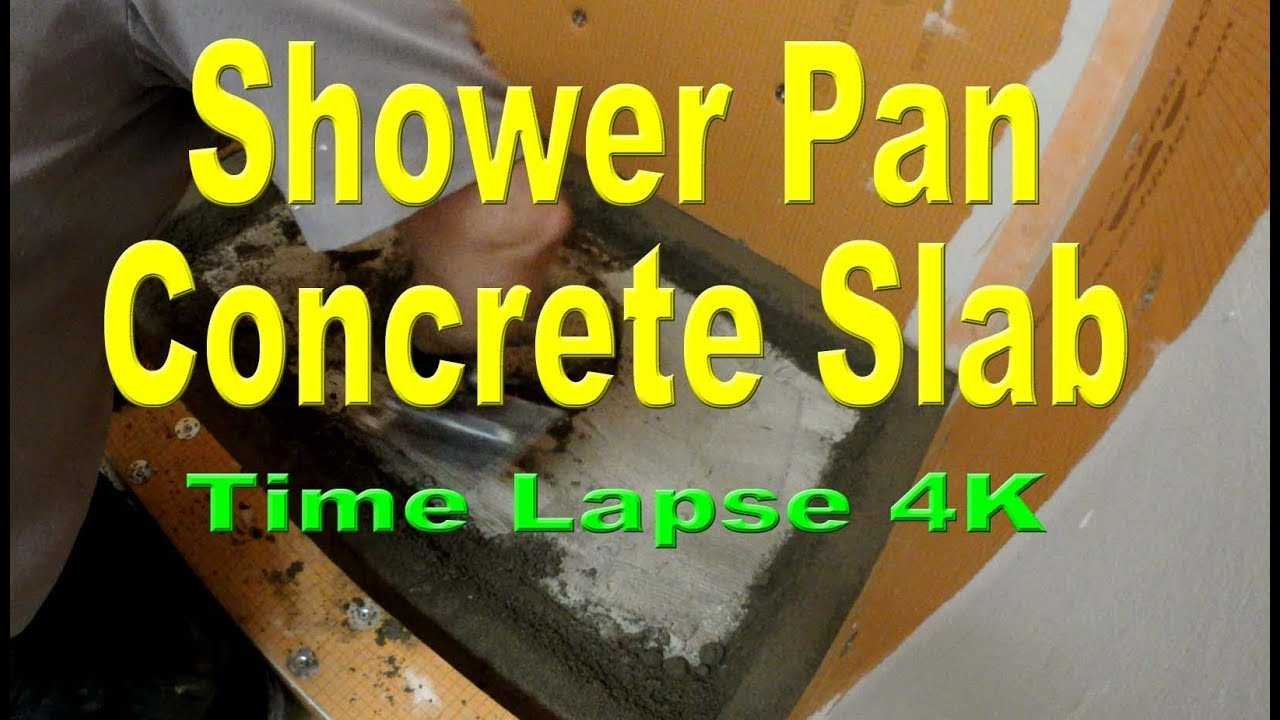 How To Install Mud On Concrete In A Shower Pan For Tile Stall