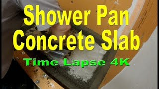 How to install mud on concrete in a shower pan for a tile shower stall