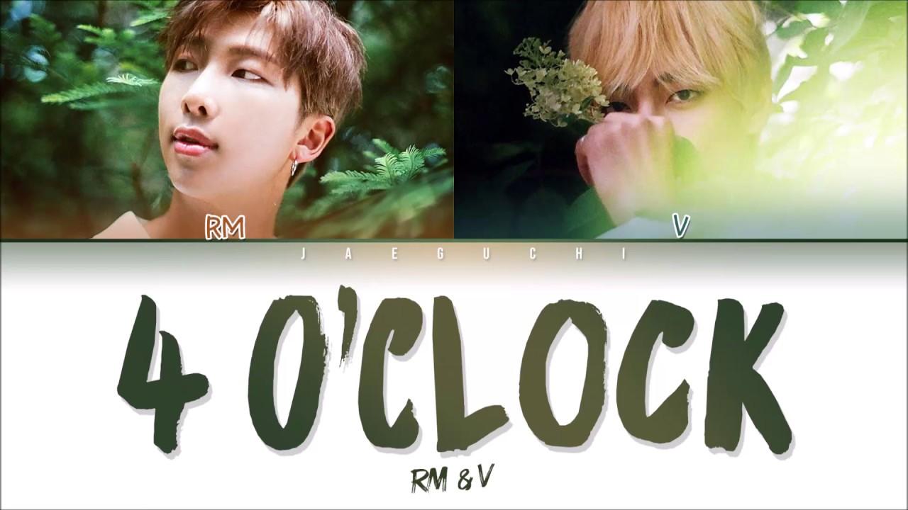 BTS  V RM 4 OCLOCK  Lyrics