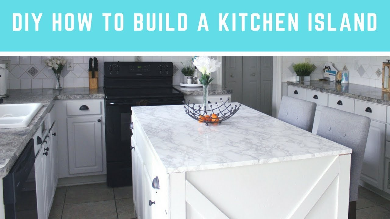 Diy How To Build A Kitchen Island Easy Island With Seating Storage