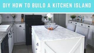 DIY كيفية بناء جزيرة المطبخ | سهل الجزيرة مع جلوس & التخزين!