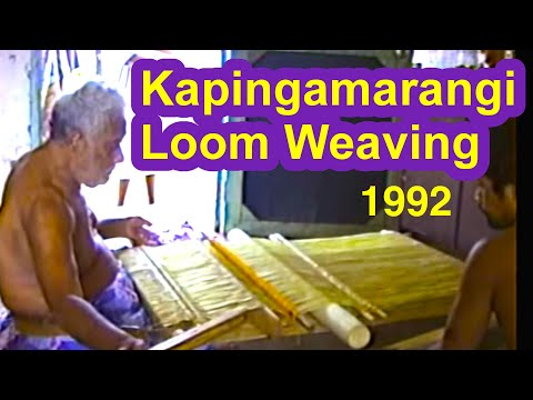 Kapingamarangi Loom Weaving Documentation, 1992