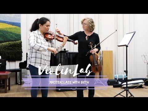 ViolinLab Workshop 2017 - Masterclass with Beth.