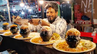 Famous Matka Biriyani of Vadodara  Served in Clay pot  Indian Street Food