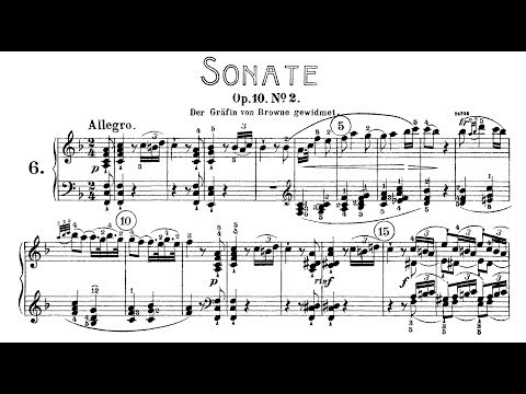 Beethoven: Sonata No.6 in F Major, Op.10 No.2 (Lortie, Jando)