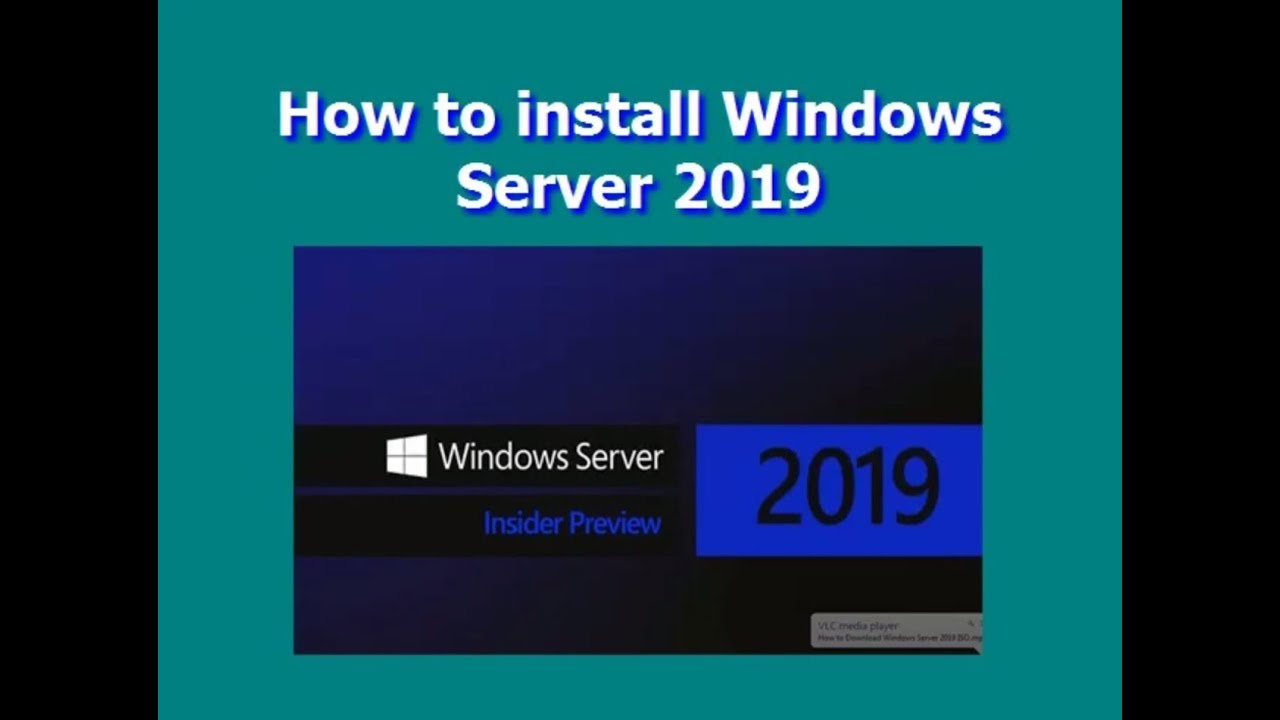 How to install Windows Server 2019