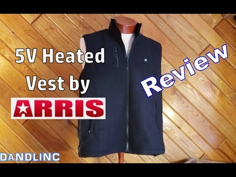The 5V Heated Fleece Vest by ARRIS   (A Review)