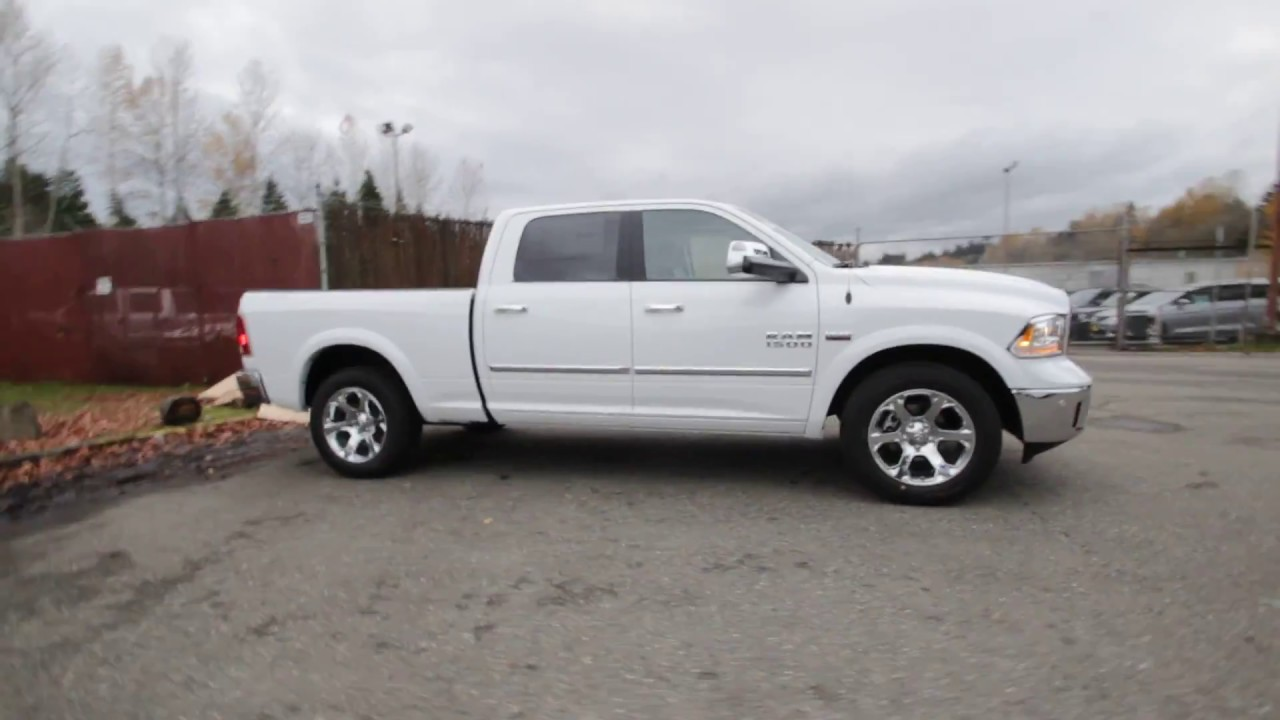 2017 dodge ram 1500 laramie crew cab 4x4 bright white hs572594 redmond seattle youtube. Black Bedroom Furniture Sets. Home Design Ideas