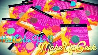 ❤ HAUL ONLINE: MakeUpGeek (Julio '13) ❤