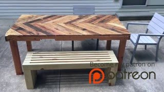 How To Build A Modern Outdoor Bench