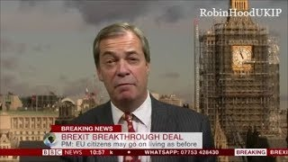 Nigel Farage Brexit Betrayal! The UK look like mugs