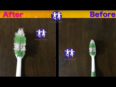 Revive A Worn Out Toothbrush In one secon I watch until the end 100% Result!Amazing