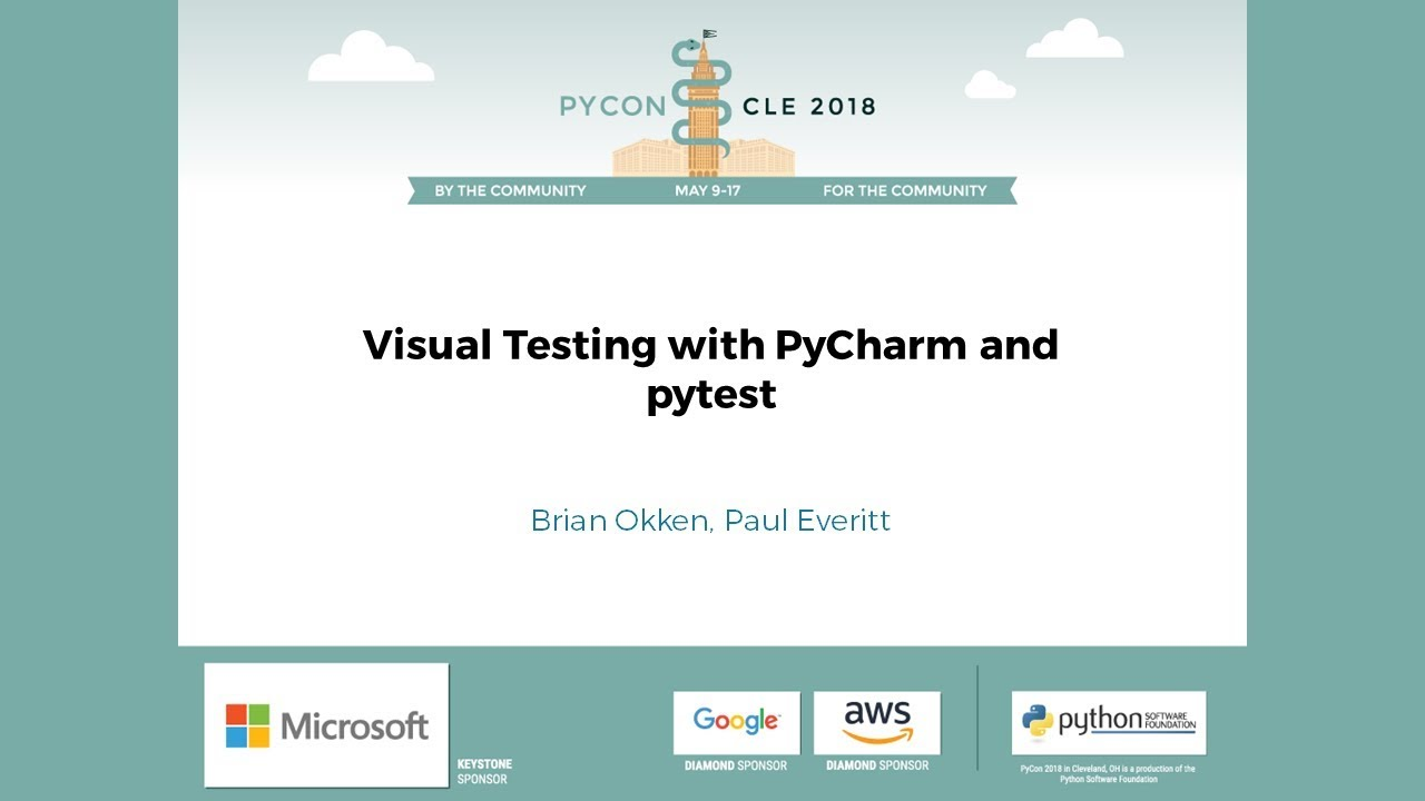 Image from Visual Testing with PyCharm and pytest