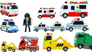 타요 경찰차 패트와 구급차 앨리스 견인차 토토의 장난감…