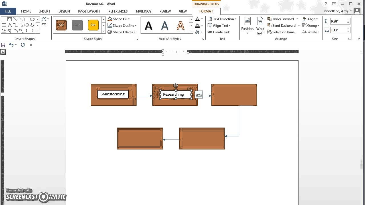 how to make a flowchart in word 2013