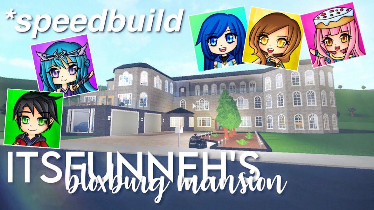 Itsfunneh Videos Roblox Family Bloxburg Itsfunneh And Krew S Old Bloxburg Mansion Speedbuild Youtube