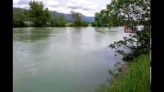 Hoher Wasserstand Aare (Nidau-Büren-Kanal) 09.05.2015