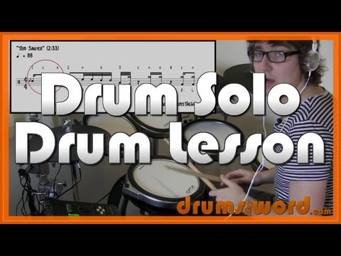 ★ Tom Sawyer (Rush) ★ Drum Lesson | How To Play Drum Solo & Drum Fill (Neil Peart)