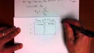 Equilibrium Example - I.c.e. Table