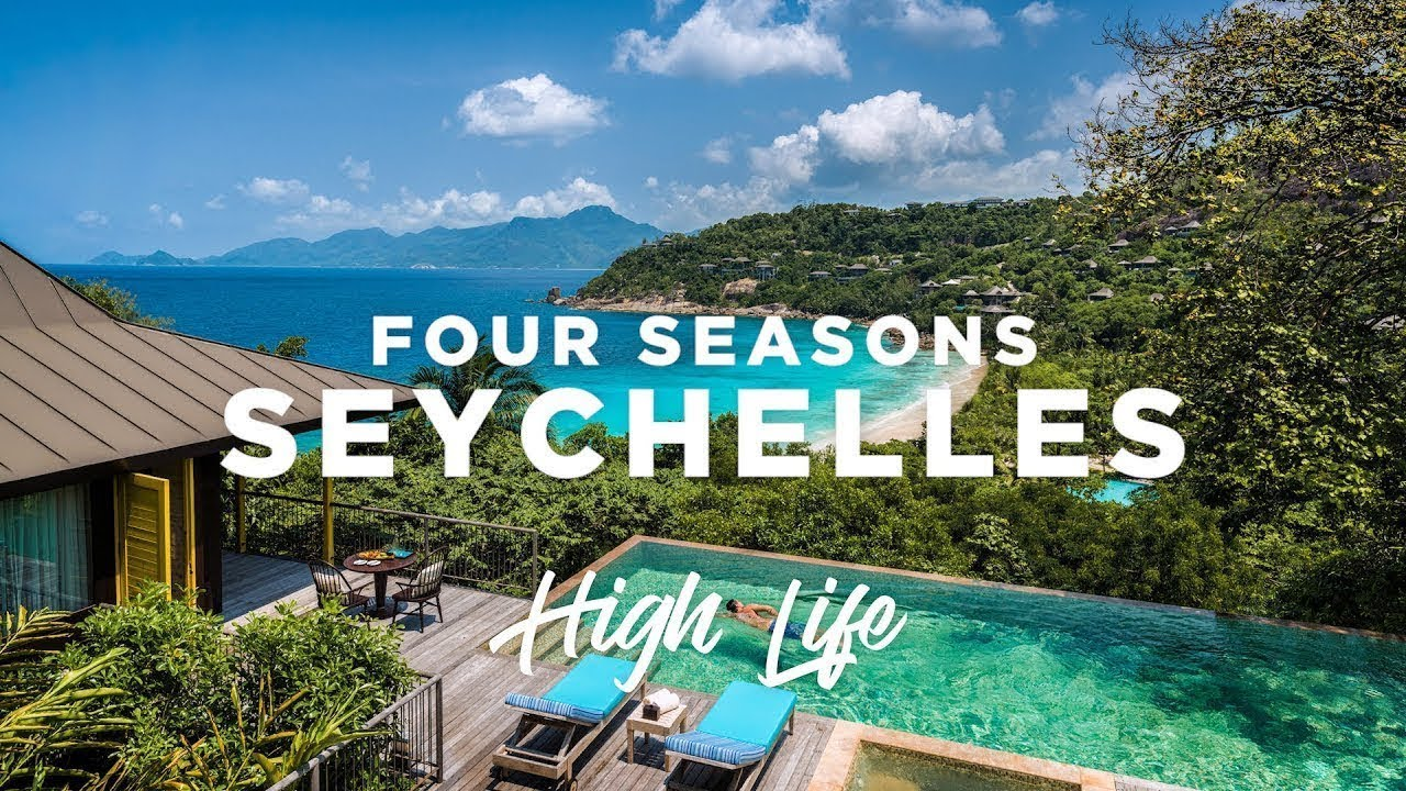 a luxury resort in paradise four seasons seychelles high life youtube. Black Bedroom Furniture Sets. Home Design Ideas
