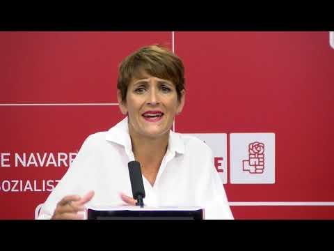 """María Chivite """"El Ministerio está dispuesto a autorizar inversiones pero el Gobierno de Navarra tiene que hacer bien su trabajo"""""""