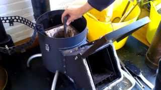 rocket stove disassemble inspection
