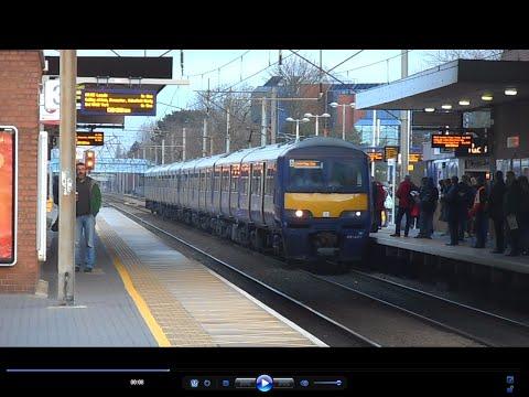 Trains at Stevenage   RUSH HOUR   10/02/16
