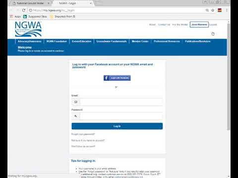 How to access NGWA Online Learning Center