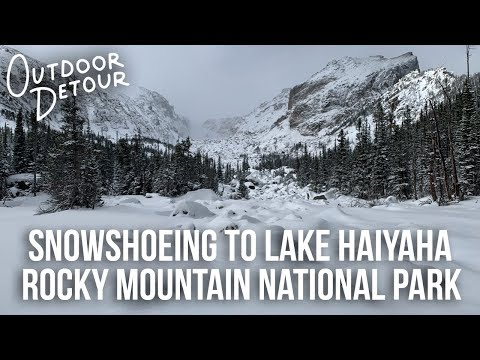 Snowshoeing to Lake Haiyaha in Rocky Mountain National Park | Outdoor Detour