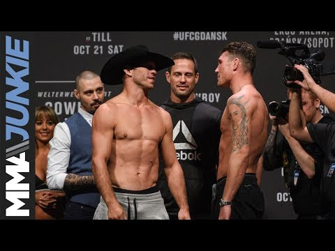 UFC Fight Night 118 Ceremonial weigh-in highlight