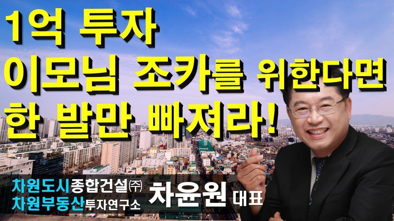 1억 투자 이모님 조카를 위한다면 한 발만 빠져라! 차윤원 대표, 상담문의 02-522-5757 차원부동산투자연구소