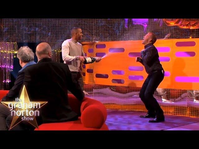 Lewis Hamilton Sprays Champagne Onto Graham Norton   The Graham Norton Show